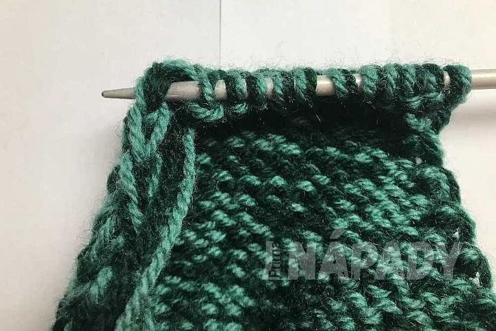 Ručně pletené ponožky: pata