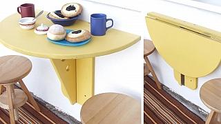 Sklopný stolek na balkon zabere minimum místa