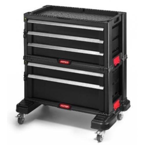 KETER box na nářadí - 6 zásuvek black/red 17201228