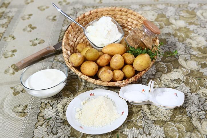 Suroviny na bramborové pečínky