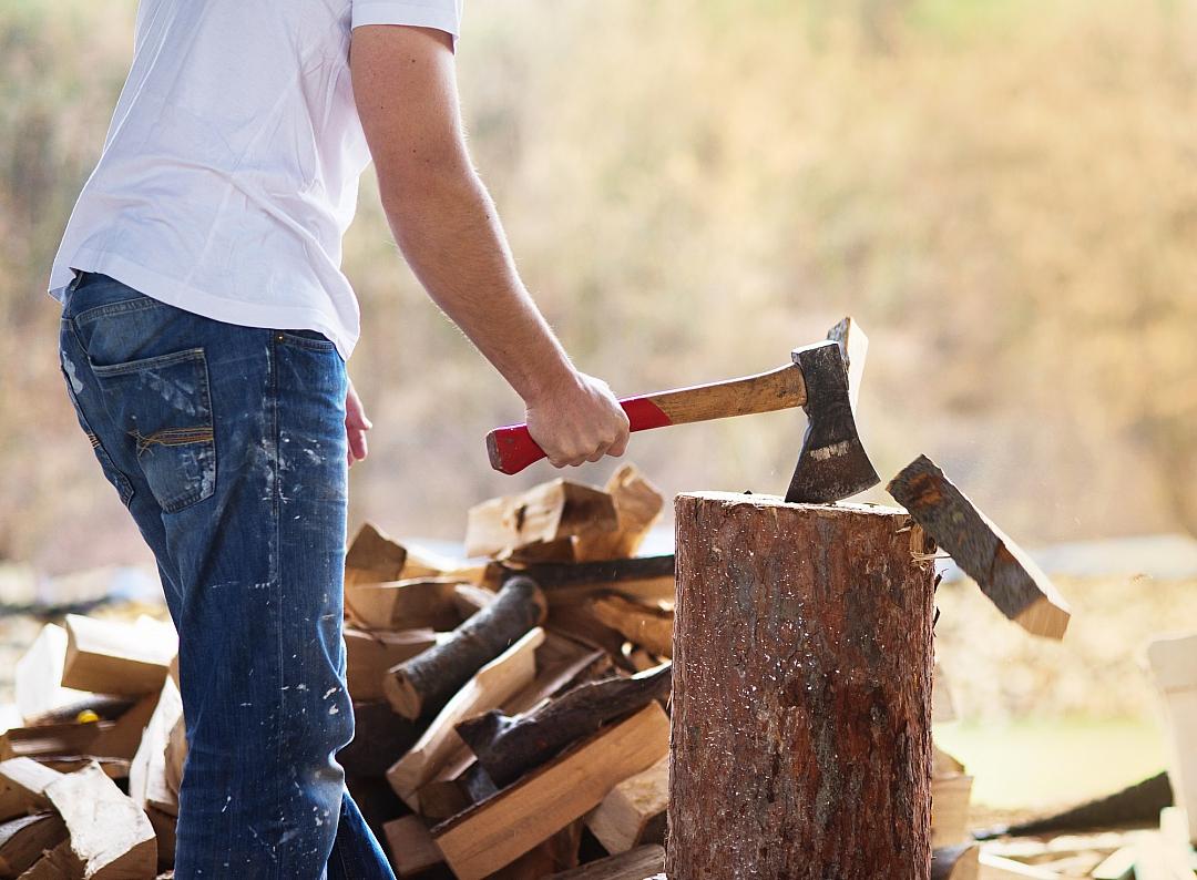 Příprava dřeva na zimu