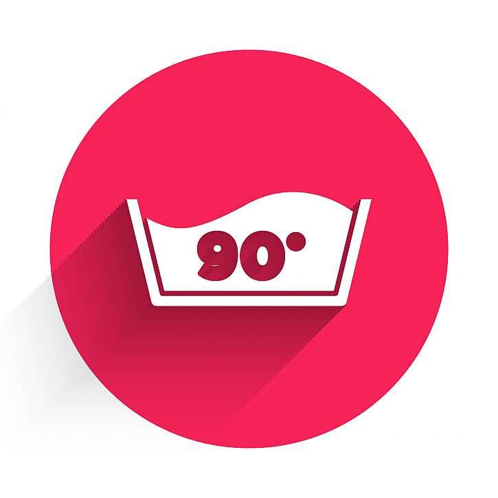 Štítek k možnosti praní na 90 °C