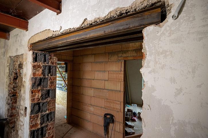 Stavební úpravy v nosné zdi