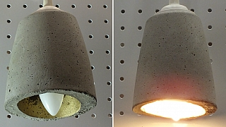 Jak vyrobit betonové stínítko na lampičku