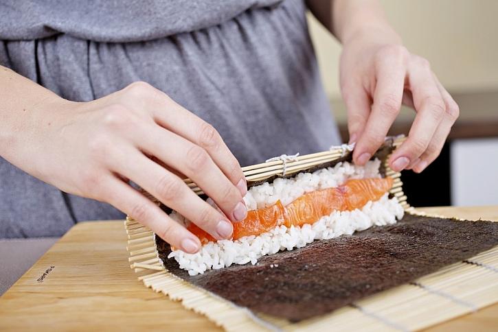 Zdravá rýže a octová omáčka