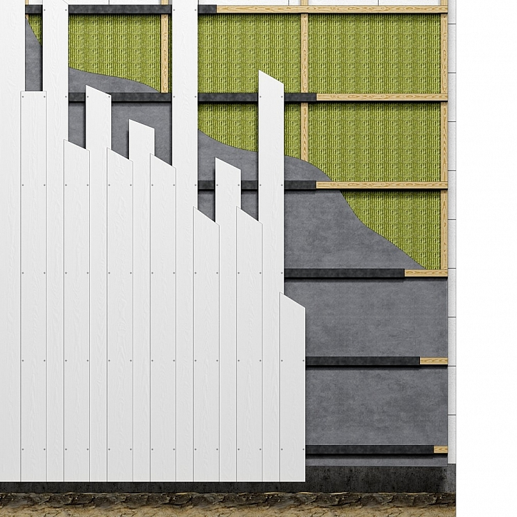 Překládané fasády – vertikální