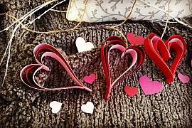 Srdíčková dekorace na oslavu svátku sv.Valentýna