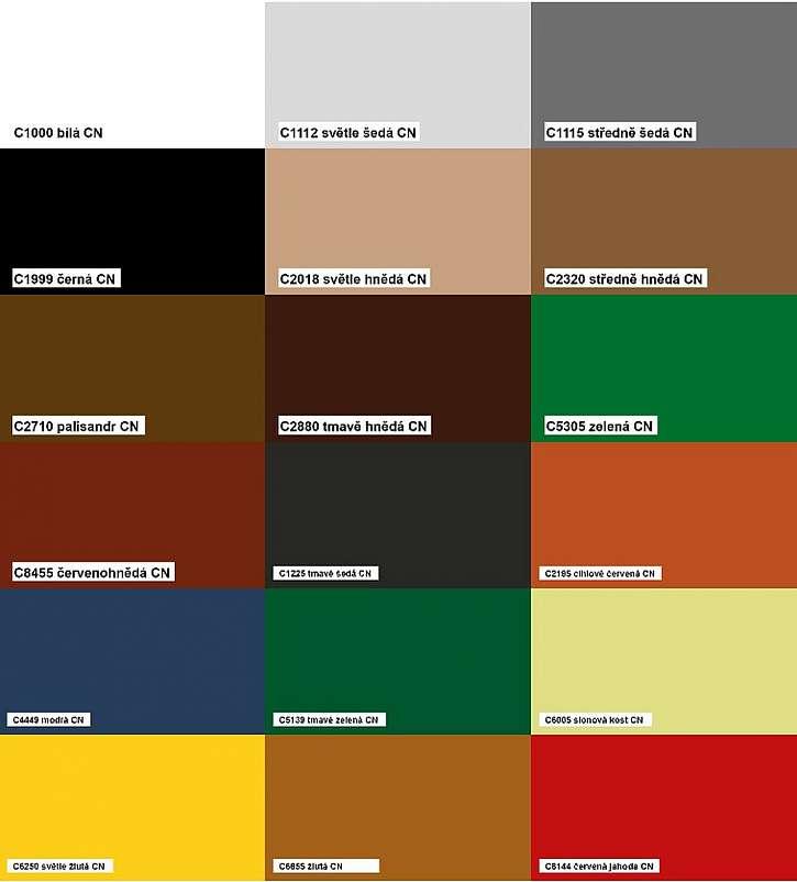 odstíny barvy COLORNAL MAT