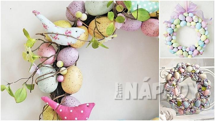 Velikonoce vpastelových barvách: věnce zvajíček