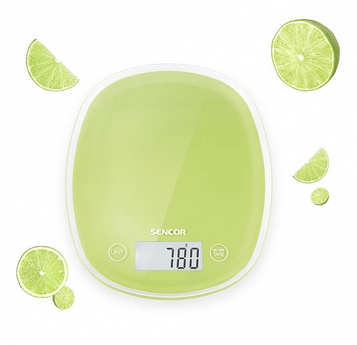 kuchyňská váha Sencor v limetkové barvě