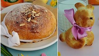 Velikonoční pečení z kynutého těsta: zajíčci a mazanec