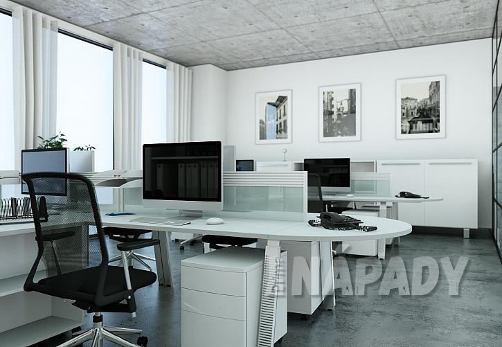 Linoleum se vzhledem betonu v kanceláři