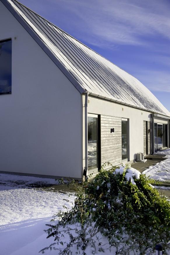 Ocelová konstrukce Lindab Construline: součást obálky jako základu pasivního domu
