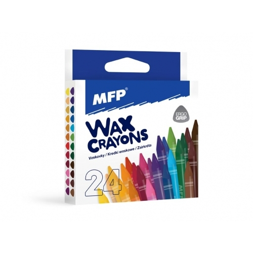 MFP voskovky 24 barev - trojhranné