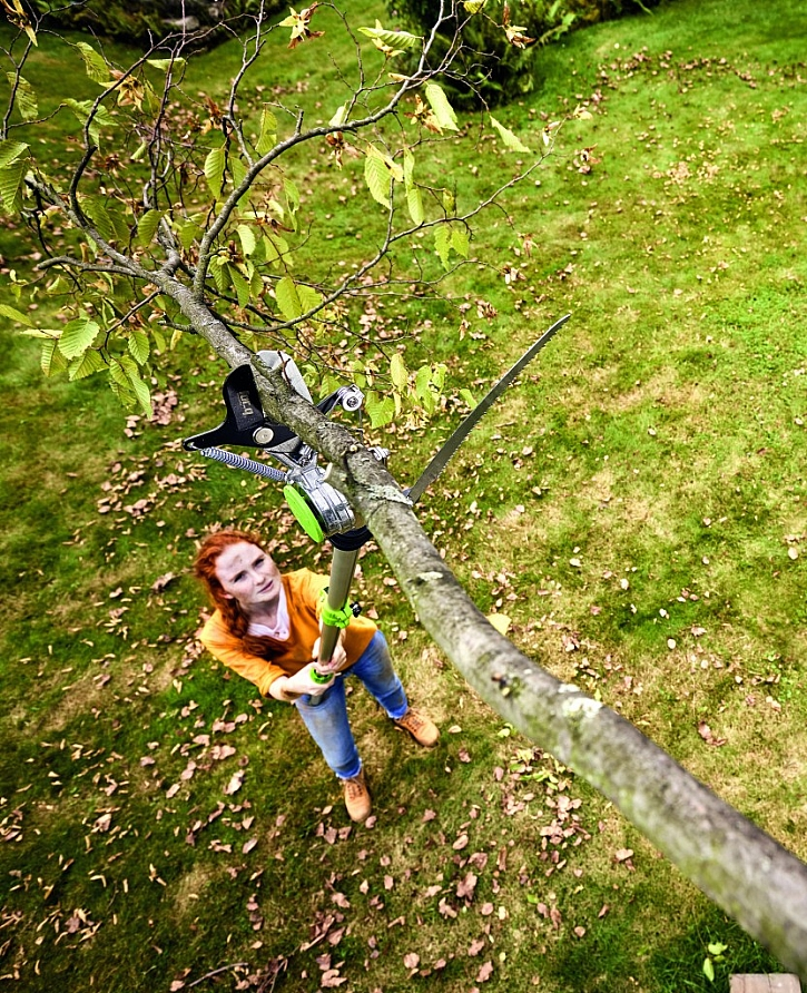 Teleskopické nůžky na větve včetně pilky