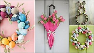 Velikonoční výzdoba na vchodové dveře: Přivítejte jaro splnou parádou