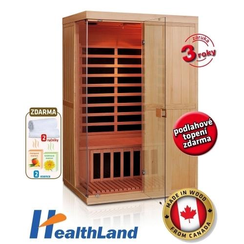 HEALTHLAND Infrasauna DeLuxe 2200 Carbon - BT