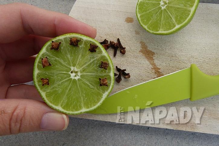 Jak udržet komáry dál od našeho stolu: Limetky a voňavý hřebíček 3