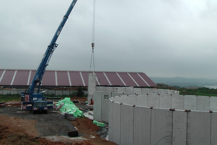 Bioplynová stanice v Číčově roste do výšky