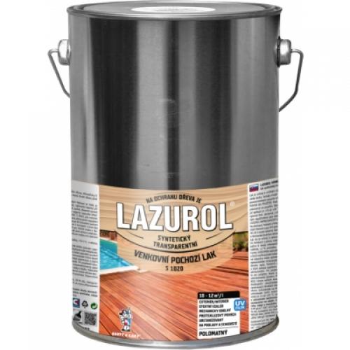 Lazurol s1020 pochozí lak na dřevo polomat, bezbarvý, 4 l