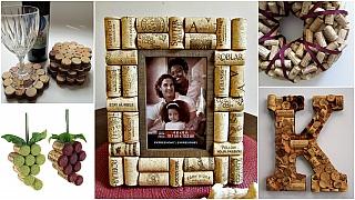 Dekorace z korkových špuntů: Dárky pro milovníky vína