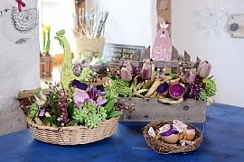 Návod na výrobu velikonočního aranžmá