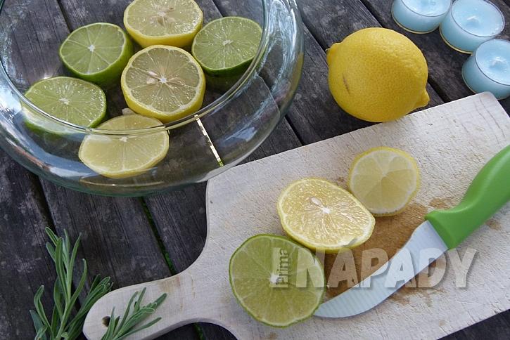 Dekorační miska s citrusy: citrusy nakrájejte