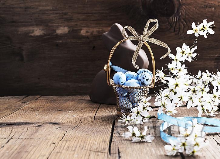 Modrá strakatá vejce