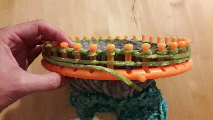 Pletení jinou barvou
