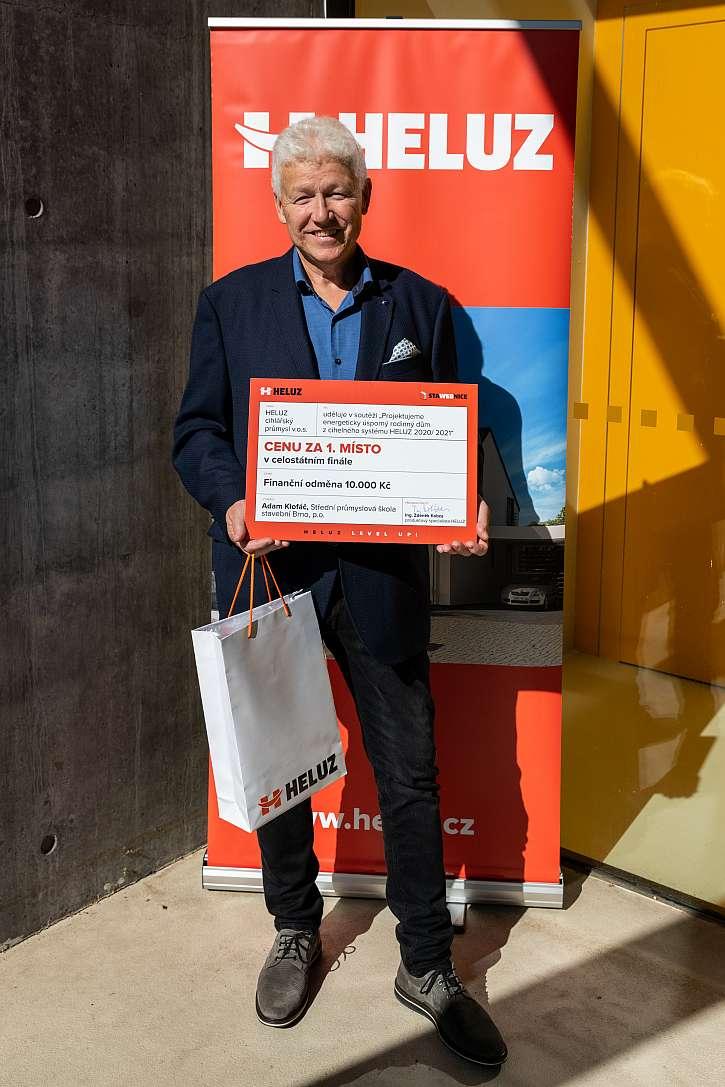 Vítězem soutěže se stal Adam Klofáč (Střední průmyslová škola stavební Brno p.o., vedoucí projektu Ing. Skříček)