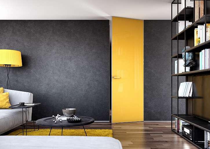 Otočné dveře žluté