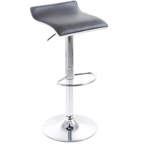 G21 Barová židle Clora koženková black