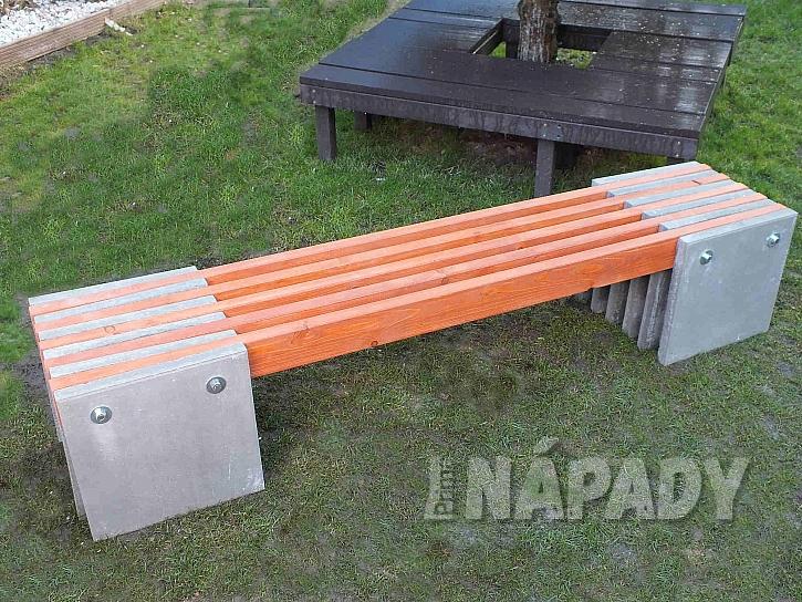 Zahradní lavice z betonových dlaždic