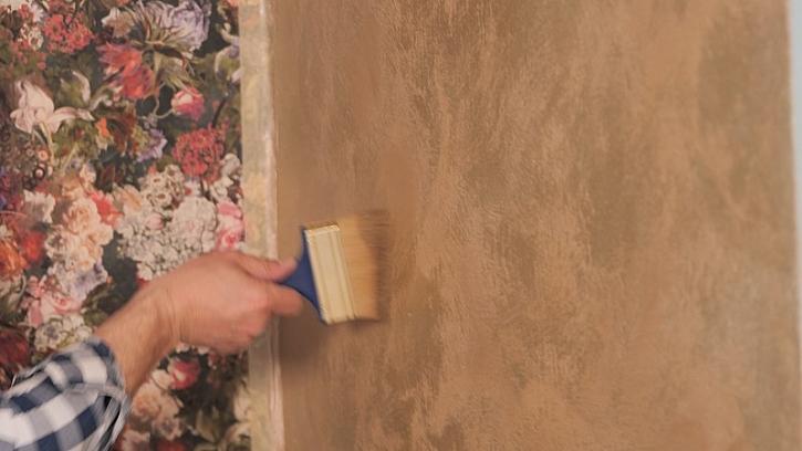 Natření obývákové zdi