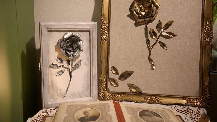 Vyrobte si krásné dekorativní růže z obyčejných plechovek