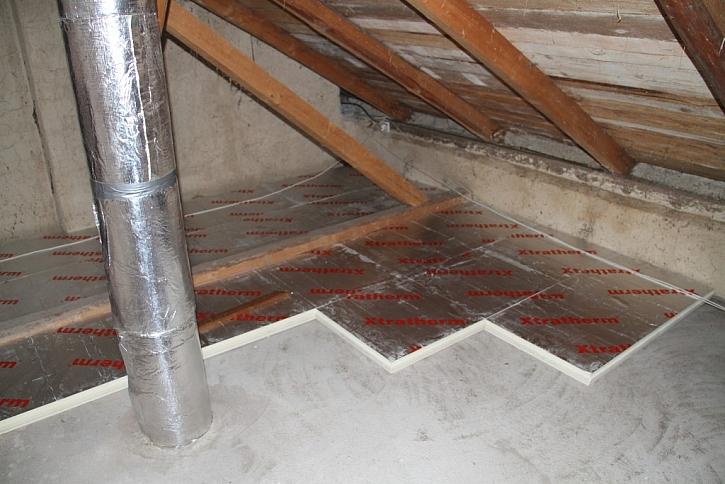 2. Zateplení podlahy půdy