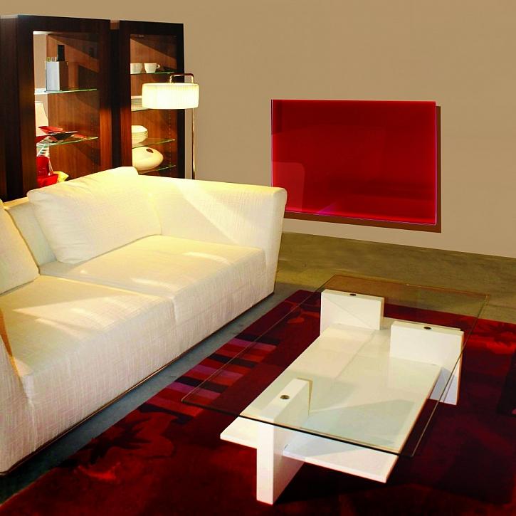 Sálavý panel GR v obývacím pokoji