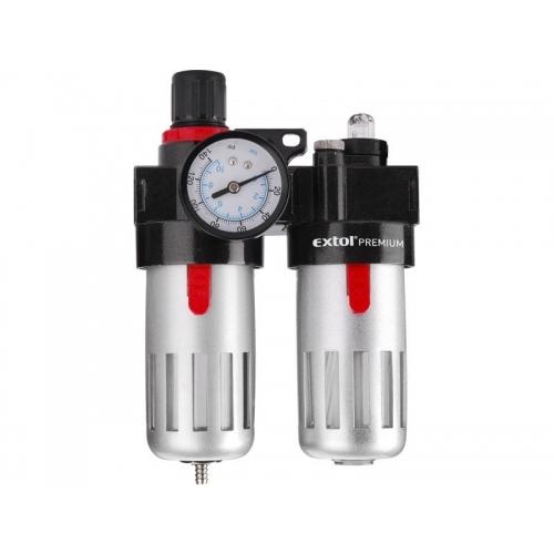 EXTOL PREMIUM regulátor tlaku s filtrem a mlhovým přimazávačem oleje