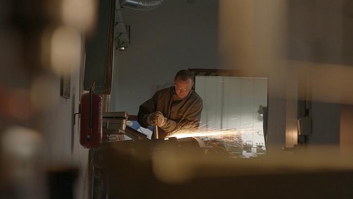 Michal Picek při práci