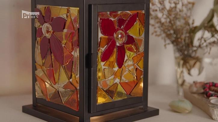 Návod na výrobu mozaikové lampičky (Zdroj: Vyrábíme dušičkovou lampu ze skla)