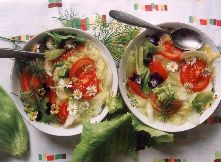 Květinový salát