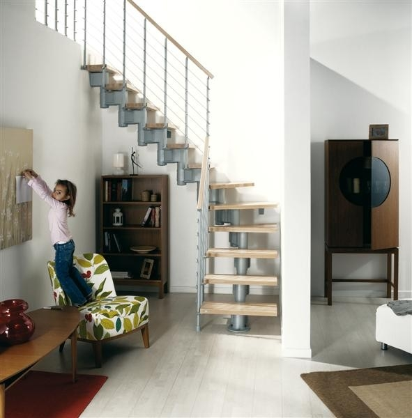 Montáž stavebnicového schodiště 1
