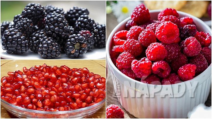 Přírodní afrodiziaka:ostružiny,maliny, granátové jablko