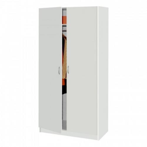 Skříň dvoudveřová 216 bílá, IDEA nábytek