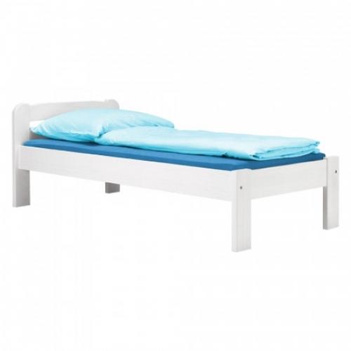 Jednolůžko MAX 2 - 90x200 bílý lak, IDEA nábytek