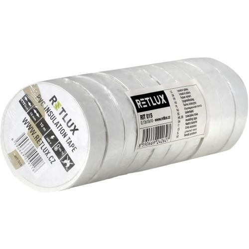 RETLUX RIT 015 izolační páska 10ks 0,13x15x10 bílá