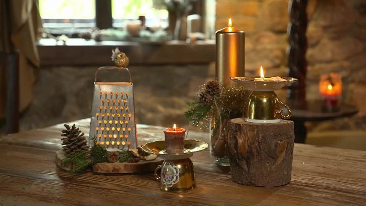 Vychytaný vánoční svícen