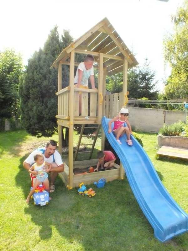 Dětské hřiště Blue Rabbit 1. – herní věž se skluzavkou