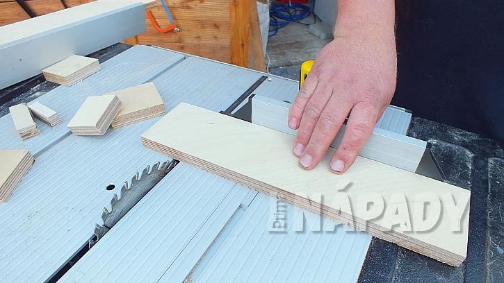 Stojánek na pásky a provázky: nařežeme díly z překližky
