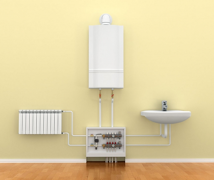 Plynový kotel může kombinovat funkce ohřevu vody i vody pro otopný systém